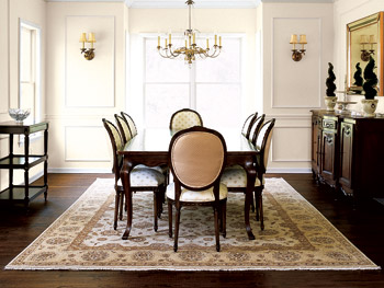 colonial style dining room decor |