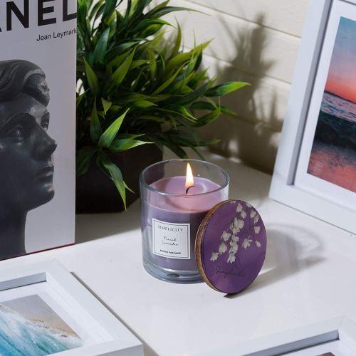 Lavender scented candle for Zen corner