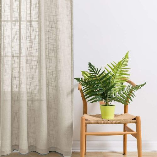 Linen curtain for Zen decor
