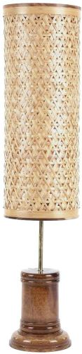 Bamboo floor lamp for eco-friendly decor